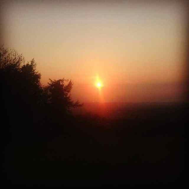 Sunset at Fa'side Castle East lothian summer solstice