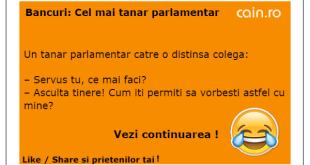 Bancuri: cel mai tanar parlamentar