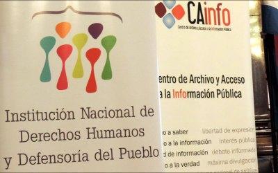 Cainfo presenta informe que evalúa transparencia en Institución Nacional de Derechos Humanos