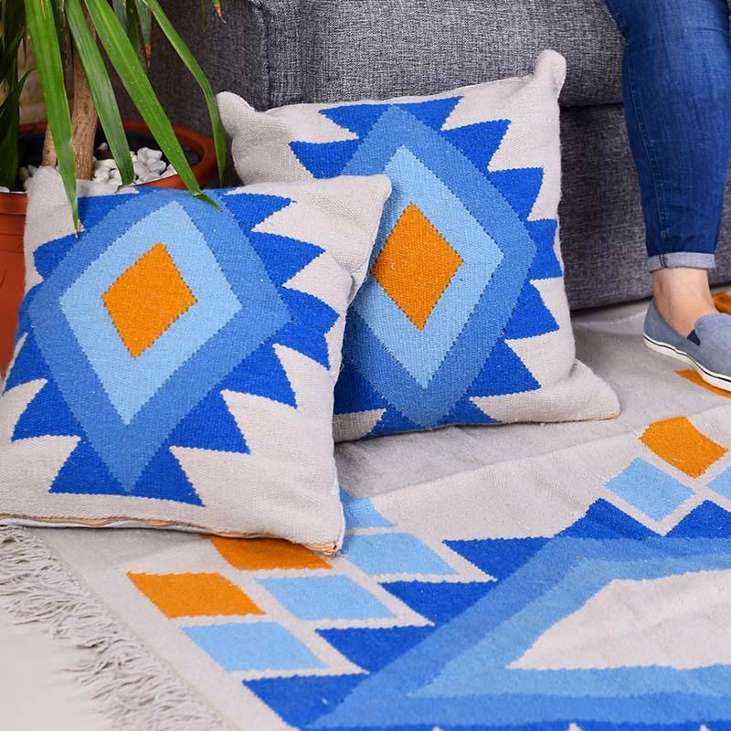 summer vibes rug set 100 natural wool handmade kilim set