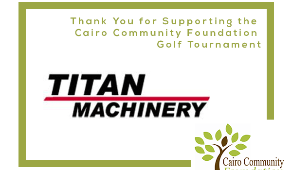 Titan Machinery-Case IH Sponsors Cairo Community Foundation Golf Tournament
