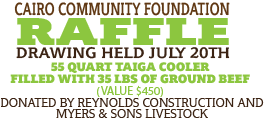 Get Your Cairo Community Foundation Raffle Tickets