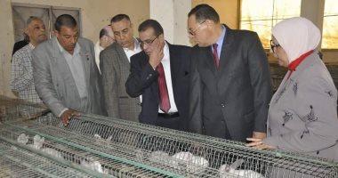 رئيس جامعة القناة يفتتح مشروعات كلية الزراعة
