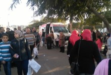 سيارة إسعاف تجوب معرض القاهرة الدولي للكتاب