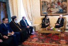 رئيس إيطاليا والبابا تواضروس الثانى