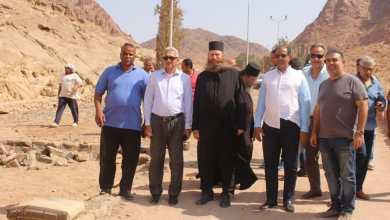 زيارة الدكتور جمال مصطفى لدير وادي كاترين