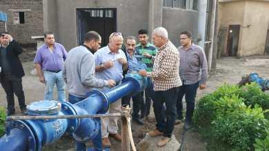 """نائب رئيس """"القابضة لمياه الشرب"""" يتفقد مشروعات المنوفية ويتابع الإحلال والتجديد (صور)"""