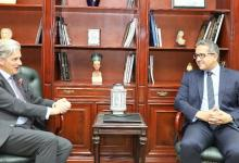 وزير الآثار والسفير البريطاني بالقاهرة