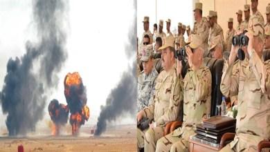 """بالصور.. وزير الدفاع يشهد المرحلة الرئيسية لمناورة """" فاتح -26 """""""
