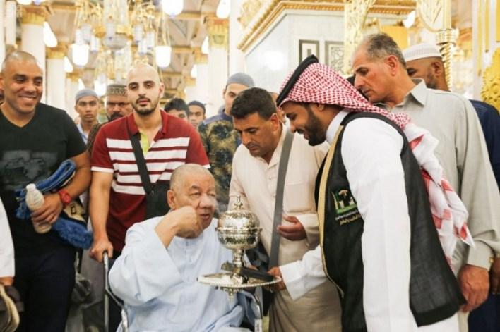 تبخير المسجد النبوي الشريف