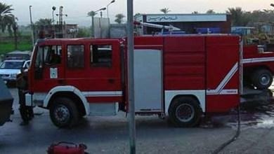 الحماية المدنية تسيطر على حريق مصنع ألومنيوم بأكتوبر
