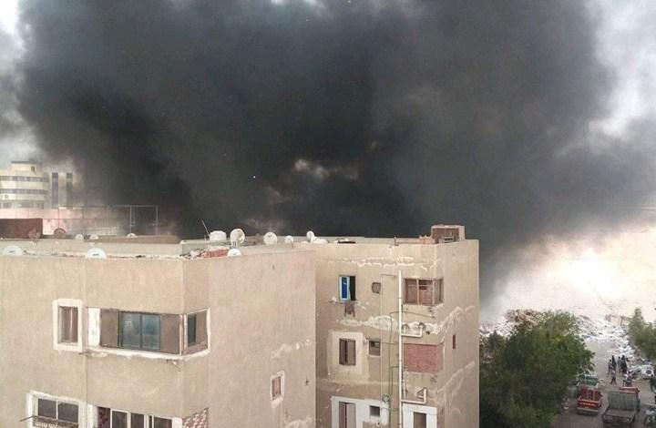 السيطرة على حريق داخل مخزن كرتون في مدينة السلام