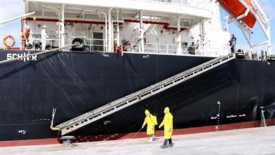 """بالصور.. إخضاع طاقم سفينة """"AT Middle bridge"""" للكشف الطبي بميناء بورتوفيق"""