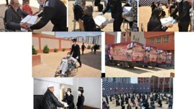 وزارة الداخلية توجه قوافل إنسانية لتوزيع المساعدات العينية على بعض القرى