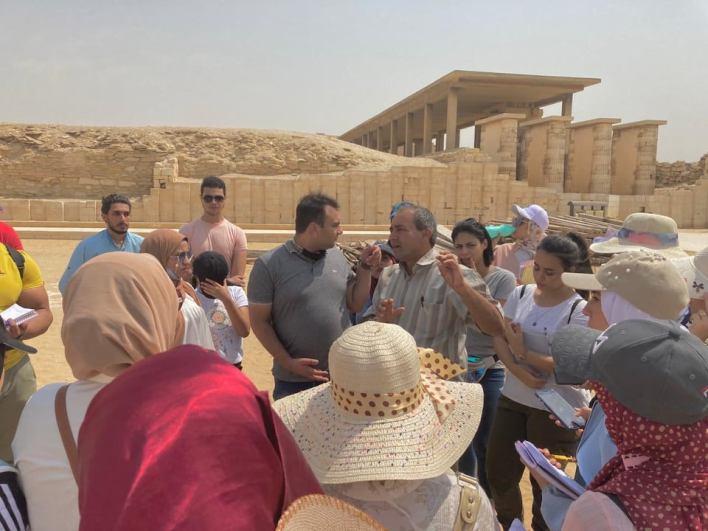 مركز زاهي حواس يزور آثار سقارة