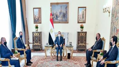 """فيديو.. الرئيس السيسي يلتقي وزير خارجية قبرص ورئيس """"DMG MORI"""""""