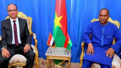 سفير مصر في واجادوجو يلتقي وزير الخارجية والتعاون والإندماج الإفريقي البوركيني