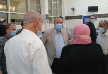 وكيل وزارة الصحة بالدقهلية يتفقد تطعيم المواطنين بلقاح كورونا بالمنصورة الدولي