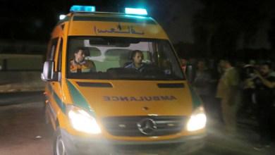 إصابة 9 أشخاص من أسرة واحدة في حادث انقلاب تروسيكل بكفر الشيخ