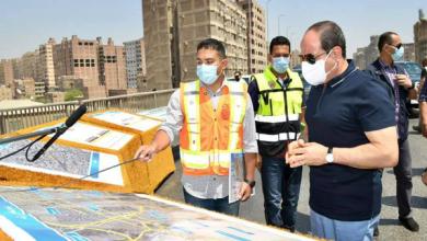 الرئيس السيسي يتابع أعمال تطوير الطريق الدائري حول القاهرة الكبرى