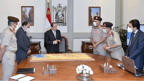 الرئيس السيسي يتابع الموقف الإنشائي لعدد من مشروعات الهيئة الهندسية