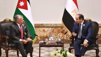 الرئيس عبد الفتاح السيسي يلتقي ملك الأردن في بغداد