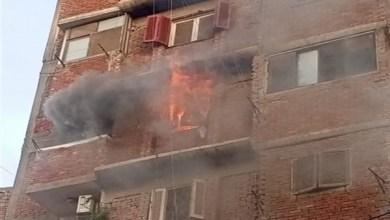 إخماد حريق داخل شقة سكنية بطنطا