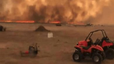 حريق غابات جنوب غرب أمريكا بسبب البرق