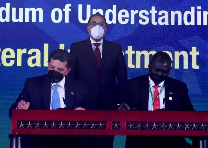 رئيس الوزراء يشهد توقيع مذكرتي تفاهم لتعزيز التعاون مع السودان وجنوب السودان