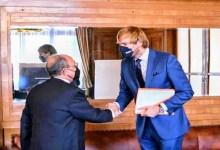 السفير سعيد هندام يبحث أطر التعاون مع وزير الصحة التشيكي