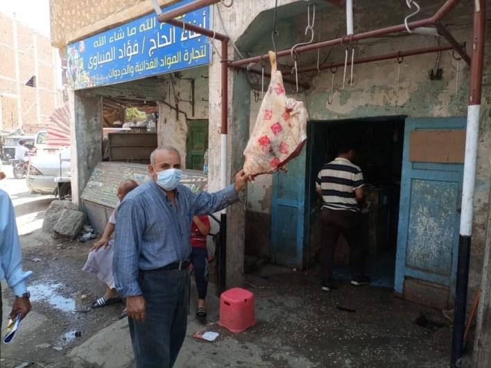 تكثيف الحملات التفتيشية على محلات الجزارة وبيع اللحوم بكفر الشيخ