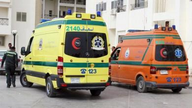 إصابة 4 أشخاص في إنقلاب سيارة على رافد الطريق الدولي بكفر الشيخ