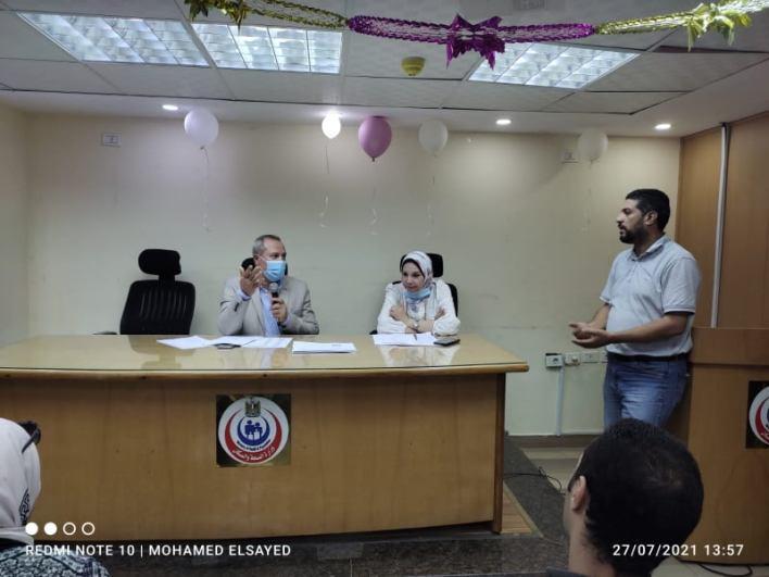 وكيل وزارة الصحة بالدقهلية يناقش مستجدات تفعيل برنامج الزمالة المصرية