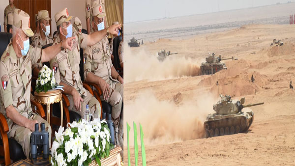 رئيس الأركان يشهد تنفيذ المشروع التكتيكي بجنود بدوي 2021
