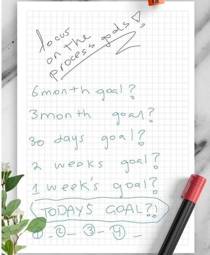 Setting Goals New Year