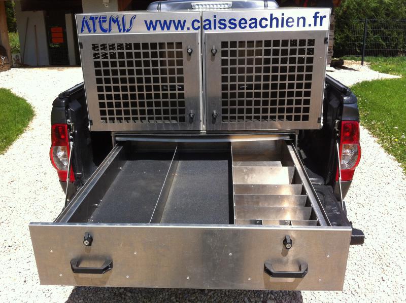 3 Caisse Chien Pick Up Tiroir Tout En Alu Caisses