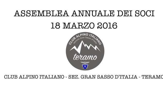 Assemblea annuale dei soci 18 marzo 2016