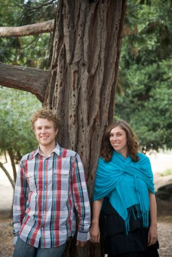 Engagement portraits for Elly and Joel at Howarth Park in Santa Rosa, CA