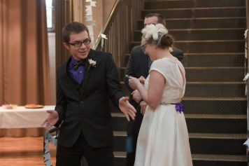 Scott does an impromptu dance during the ceremony
