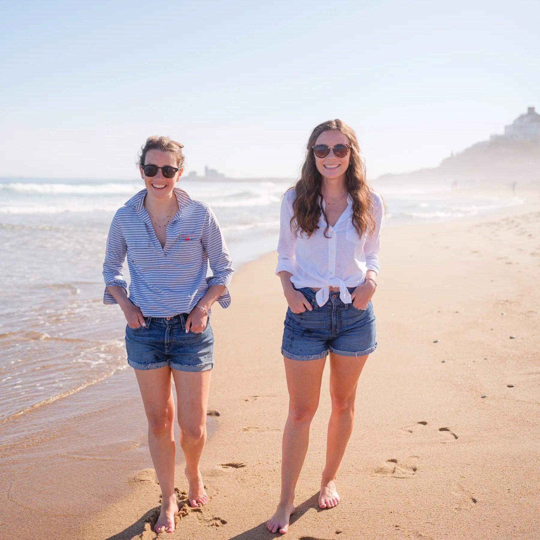blog friends on the beach