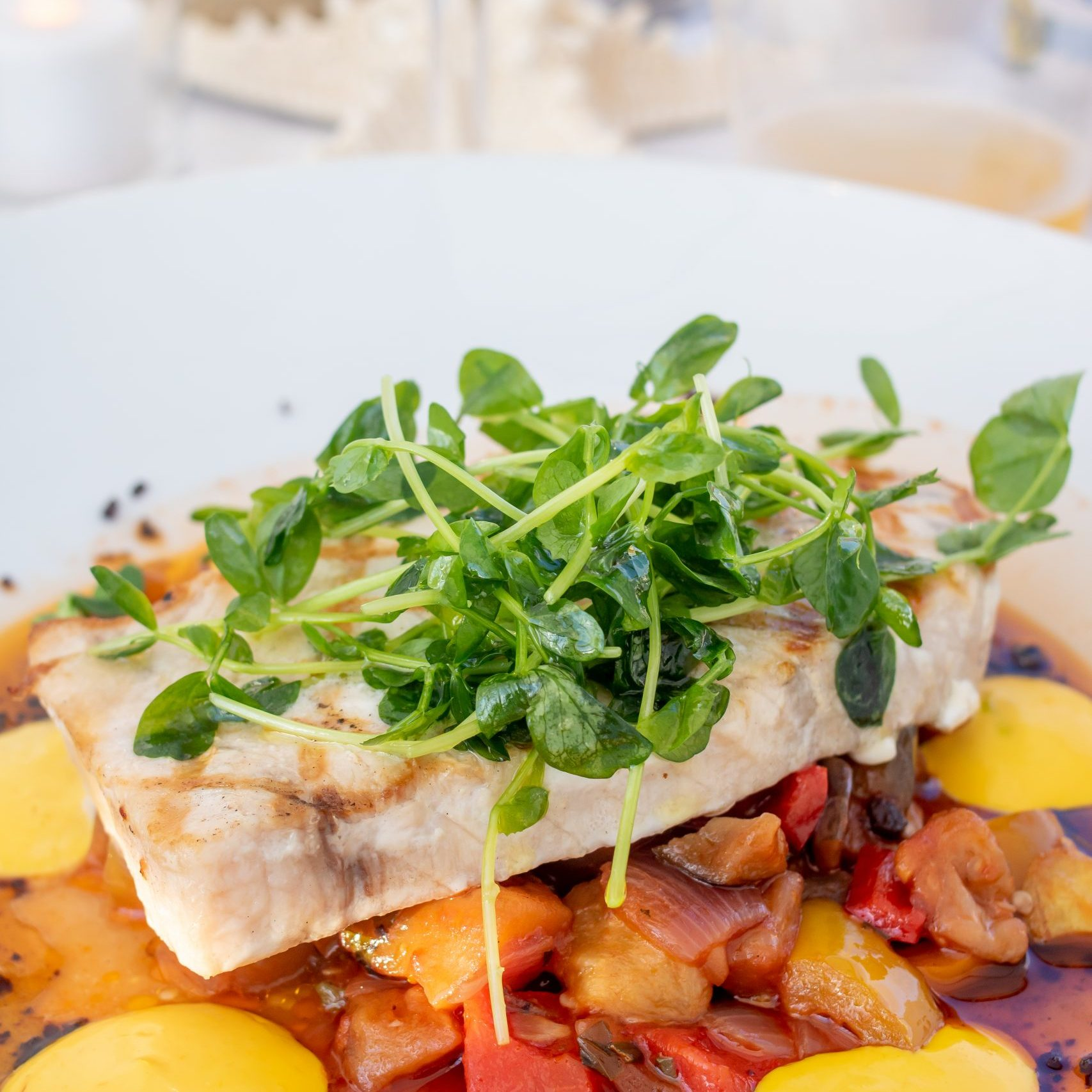grilled swordfish Dune Winnetu
