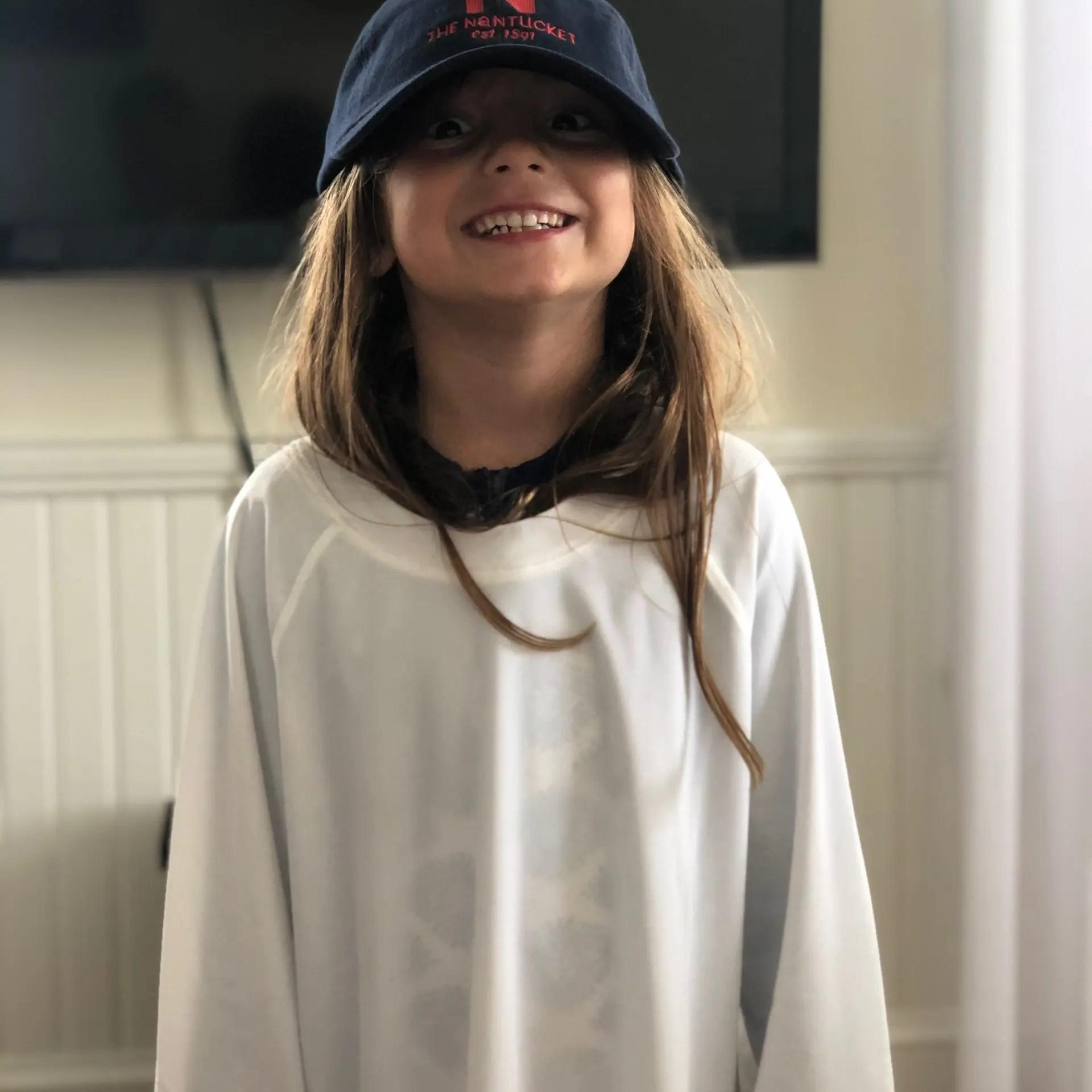 little girl wearing The Nantucket Hotel hat