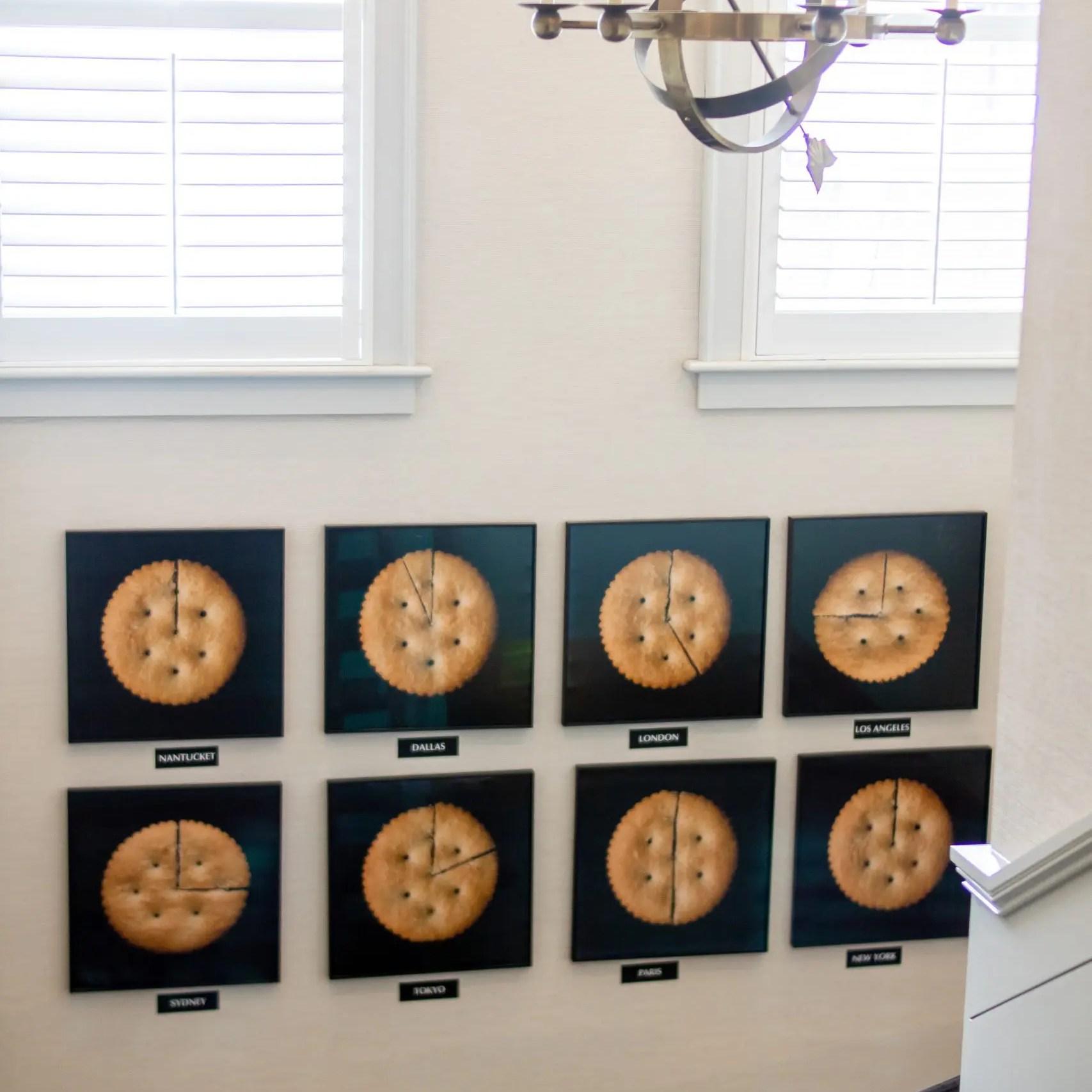 The Nantucket Hotel and Resort Interior Decor Ritz Cracker Clock Wall