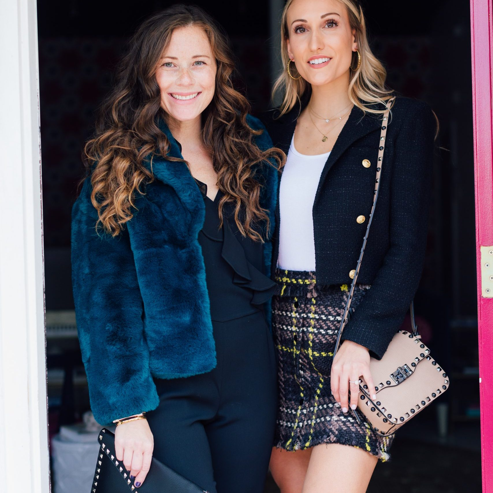 Bloggers in High Fashion in Doorway