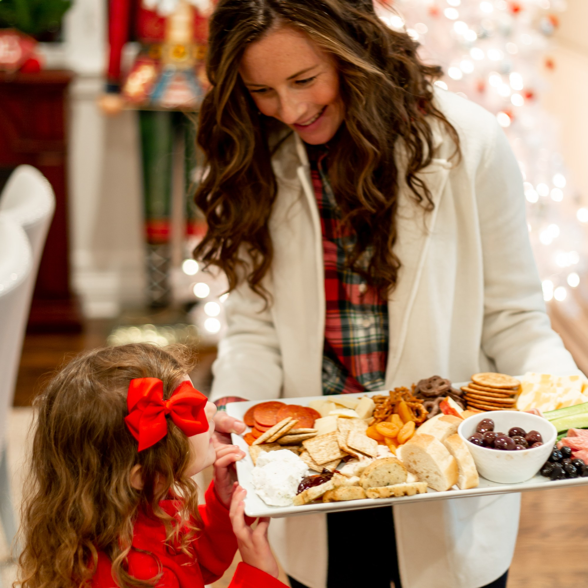 Life lately showing daughter holiday charcuterie board