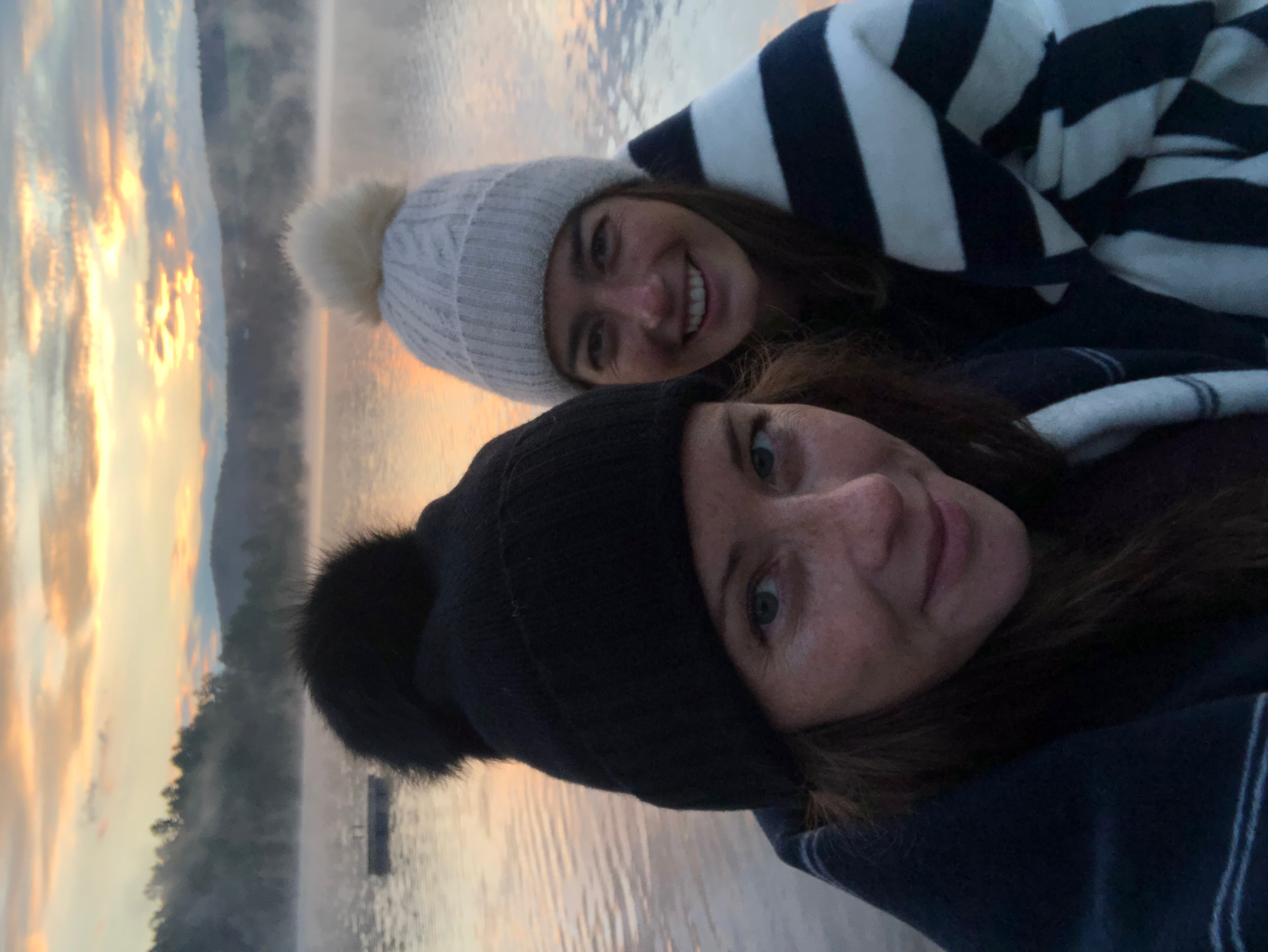 Claire and Caitlin Vermont Sunrise