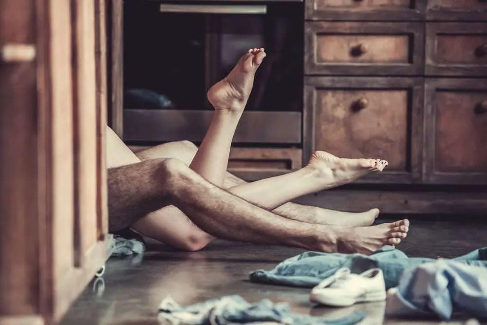 couple having sex on floor