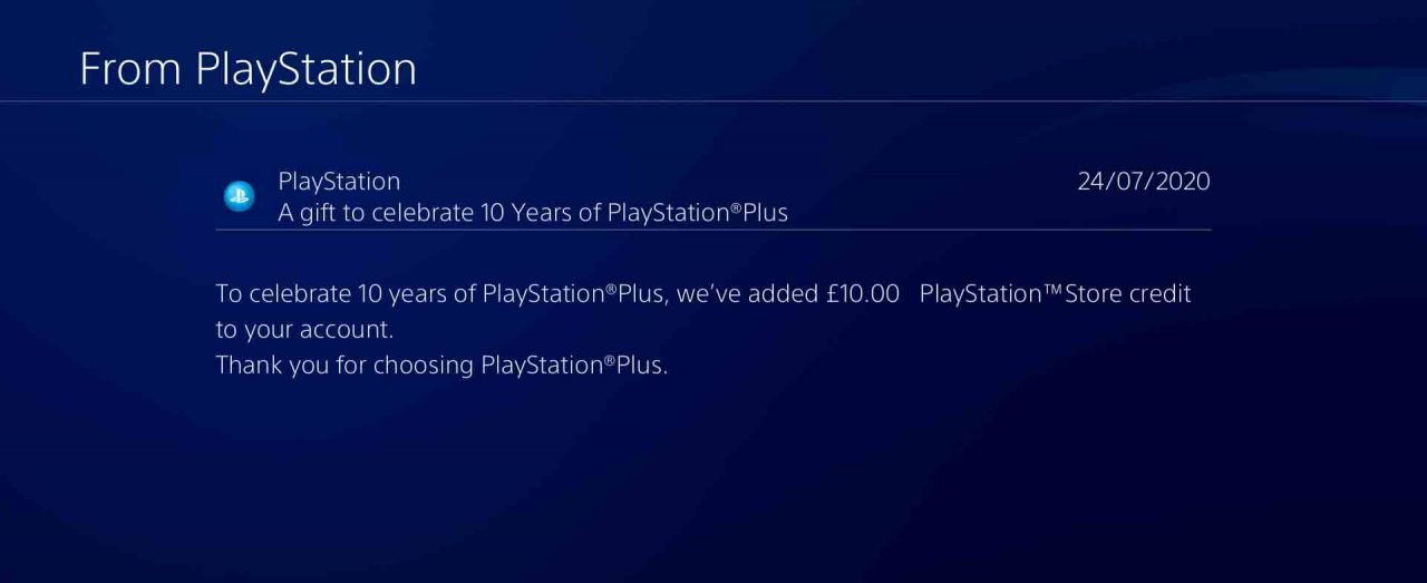 playstation 10 year ps plus