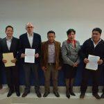 Firman convenio para represamiento en el Río Azufre