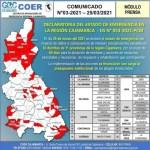 32 distritos declarados en emergencia en Cajamarca por lluvias intensas